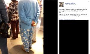 selvaggia lucarelli mc donalds pigiama